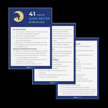 41 Tips to Sleep Better [Checklist]